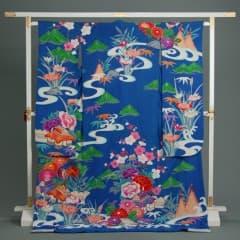 青 流水 緑松 四季の花 網干紋