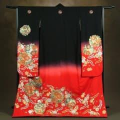 赤/黒 花紋入 箔花紋