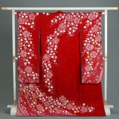 赤 絞り 枝垂桜 金桜 変り仕立て