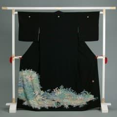 茶屋辻文様 水辺の屋敷 加賀の菖蒲