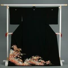 宝扇面つづみ紋 四季の花