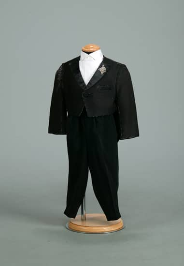 2P 黒/シルバーラメバラ刺繍エンビ *パンツ付き