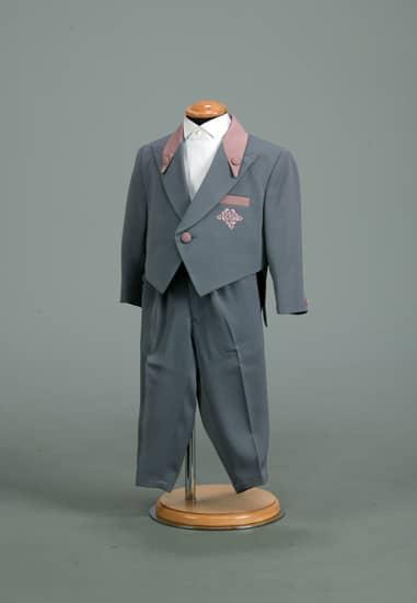 2P グレー/ピンクコンビバラ刺繍エンビ *グレームジパンツ付き