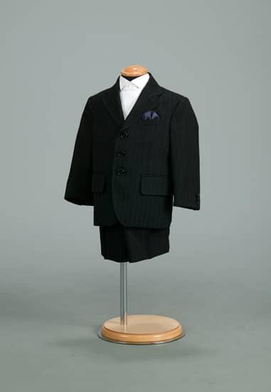 2P 黒ストライプスーツ *パンツ付き