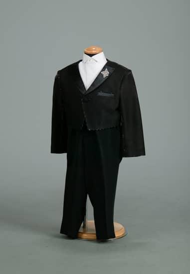 2P 黒/シルバーラメバラ刺繍エンビ *黒ムジパンツ付き