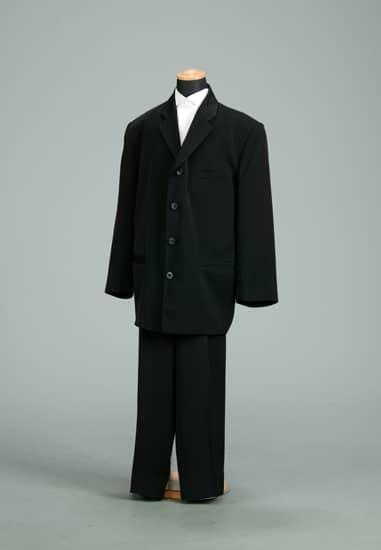 2P 黒ムジテーラード4ツ釦 *黒ムジパンツ付き 股下63cm