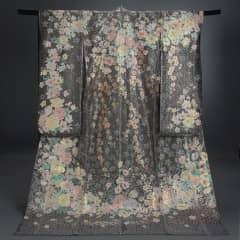 黒ブッチャーオーガン銀チュール 花飾樓上