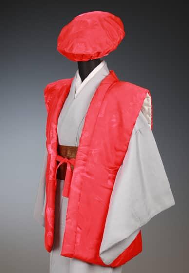 賀寿お祝着 赤 陣羽織&大黒帽