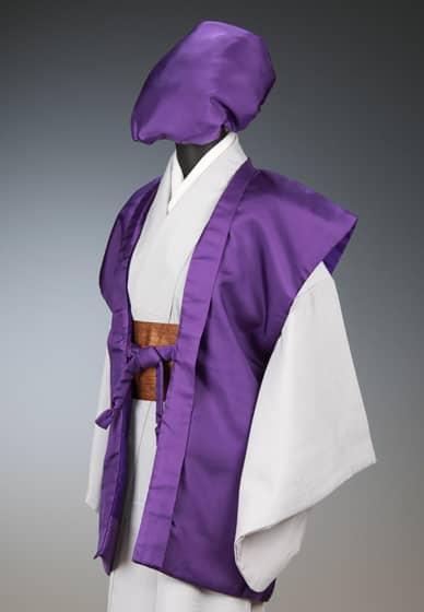 賀寿お祝着 紫 陣羽織&大黒帽
