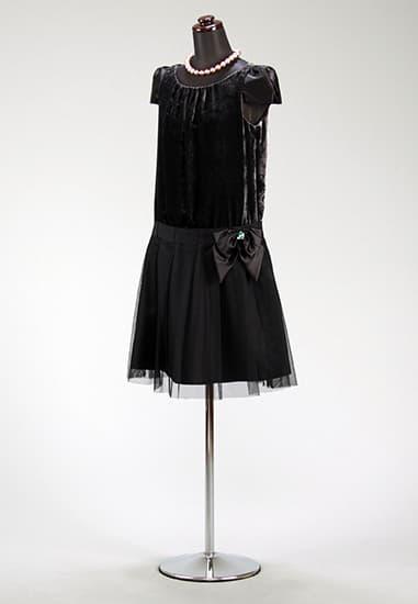 ダーググレーベロアローウェストグログラン 裾チュール